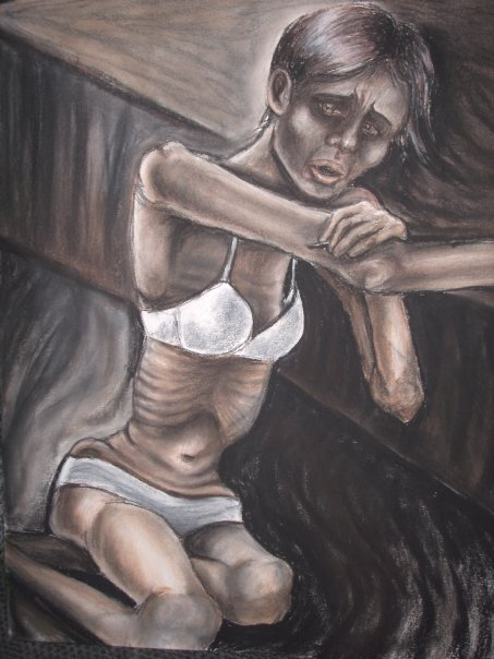 Heroin_Heroine_ charcoal and pastel